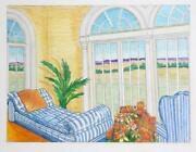 Cindy Wolsfeld Room With A View Pencil Drawing Signed In Pencil