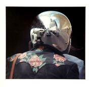 Theodore Cohen A Reflection Of A Manhattan Motorcyclist Color Photograph