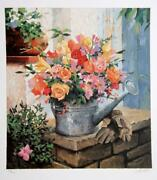 Jennifer Carlton Untitled - Garden Bouquet Lithograph Signed And Numbered In