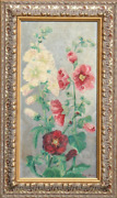 Margaretha E. Albers Flowers Oil On Canvas Signed L.r.