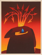 Jean-michel Folon Macbeth Screenprint Signed And Numbered In Pencil