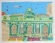 Susan Pear Meisel Grand Central Screenprint Signed And Numbered In Pencil