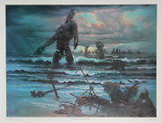 John Pitre Remnants Of Power Offset Lithograph Signed And Numbered