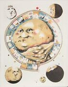 Dennis Geden Man In The Moon Whistles From The Limestoned Portfolio Lithograph