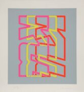 Chryssa, Series 6, Screenprint On Arches, Signed And Numbered In Pencil