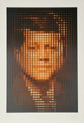Jean Pierre Vasarely Aka Yvaral John F. Kennedy Screenprint Signed And Numb