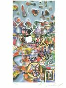 Kenny Scharf News Now - United Nations Lithograph On Essex Rag Paper Signed A