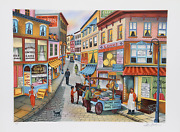 Ari Gradus Knife Sharpener Lithograph. Signed And Numbered In Pencil