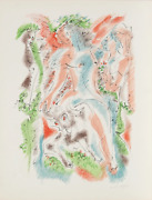 Andre Masson Bacchanale From Je Reve Portfolio Lithograph On Arches Signed An
