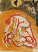 Marc Chagall Cain And Abel From Drawings For The Bible Lithograph