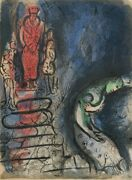 Marc Chagall Ahaseurus Banishes Vashti From Drawings For The Bible Lithograp