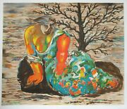 Sandro Chia Seated Woman Lithograph Signed And Numbered In Pencil
