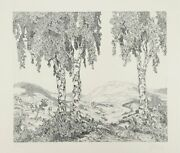 Hans-georg Rauch, Landscape 2, Etching, Signed And Numbered In Pencil