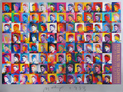 Peter Max 100 Clintonand039s Bill Clinton Poster Signed And Dated In Marker