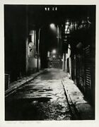 Unknown Artist, Theatre Alley, Nyc, Gelatin Silver Print, Signed 'neil Lucas' L.