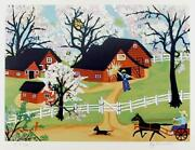 Kay Ameche Apple Blossom Time Screenprint Signed And Numbered In Pencil