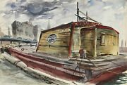 Eve Nethercott Waterfront 47 Watercolor On Paper