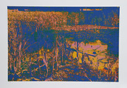 Max Epstein Blue Lagoon Screenprint Signed And Numbered In Pencil