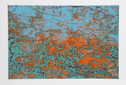 Max Epstein Coral Gem Screenprint Signed In Pencil