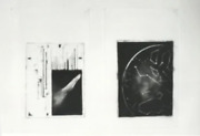 Bimal Banerjee Zenith Exclamation Diptych Fumage On Japanese Misho Paper