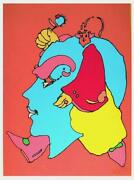Peter Max Untitled 3 - Marching Head Screenprint Signed In Pencil