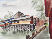 Eve Nethercott, View Of House From Docks P2.60, Watercolor On Paper