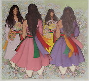 Alice Asmar, Taos Corn Dancers, Lithograph, Signed And Numbered In Pencil