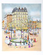 Claude Tabet, Fountain, Lithograph, Signed And Numbered In Pencil