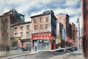Eve Nethercott Chinatown P4.23 Watercolor On Paper
