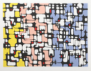 Ibram Lassaw, Continuity, Screenprint, Signed And Numbered In Pencil