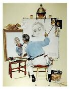 Norman Rockwell Biography Self Portait Poster