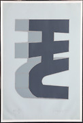 Chryssa, Times Square Fragment 6, Screenprint, Signed And Numbered In Pencil