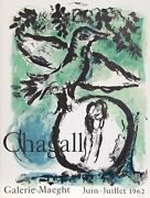 Marc Chagall Galerie Maeght Lithograph Poster On Wove Paper