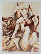 Philip Pearlstein Two Nude Women With Lion Lithograph Signed And Numbered In