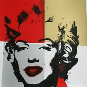 Andy Warhol, Marilyn Ii 4, Screenprint, Stamped Verso By Sunday B. Morning