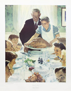 Norman Rockwell Freedom From Want Poster