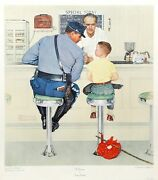 Norman Rockwell The Runaway Vintage Collotype Poster
