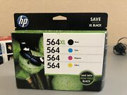 New Genuine Hp 564xl Black And 564 Cyan/magenta/yellow Ink Cartridges Combo-pack
