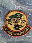 Theater Vietnam Special Forces Macv Sog Mike Fac Ccs Mike Force Patch