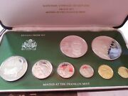 Republic Of Guyana 1976 Proof Set Of 8 Coins, Franklin Mint With Coa