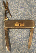 Unocal 76 Knife Nail File Scissors Service Station Gas Oil Sapphire Brass Japan