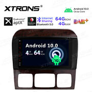 8 Android 10 8-core 4+64gb Car Radio Stereo Gps For Mercedes Benz S-class W220