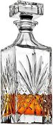 James Scott Crystal Decanter For Whiskey, Liquor And Bourbon - 25 Oz. Lead Free