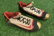 """Joey Votto Cincinnati Reds Game Used Cleats 2016 """"gold"""" Signed Beckett Loa"""