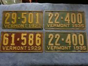 1927 Thru 1976 Vermont Mostly Pairs 36 Item License Plate Lot Real Nice Lot 695