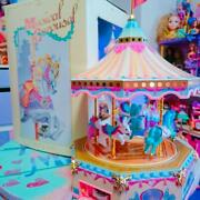 Vintage Merry - Go - Round Made In Japan 1988 80s Tin Toy Genuine Free Shipping