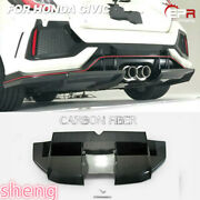 For Honda 2017+ Civic Ty-r Fk8 Vrs Style Carbon Rear Diffuser Under Lip Bodykits