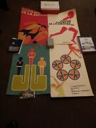 Cuba Lot Of 8 Silkscreen Posters About Sports 1970s