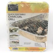 Leisure Ways Barbecue Quick Disposable Charcoal Grill Ready To Use Outdoor