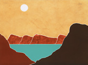 Peter Keefer, Taos Blue Lake, Screenprint, Signed And Numbered In Pencil